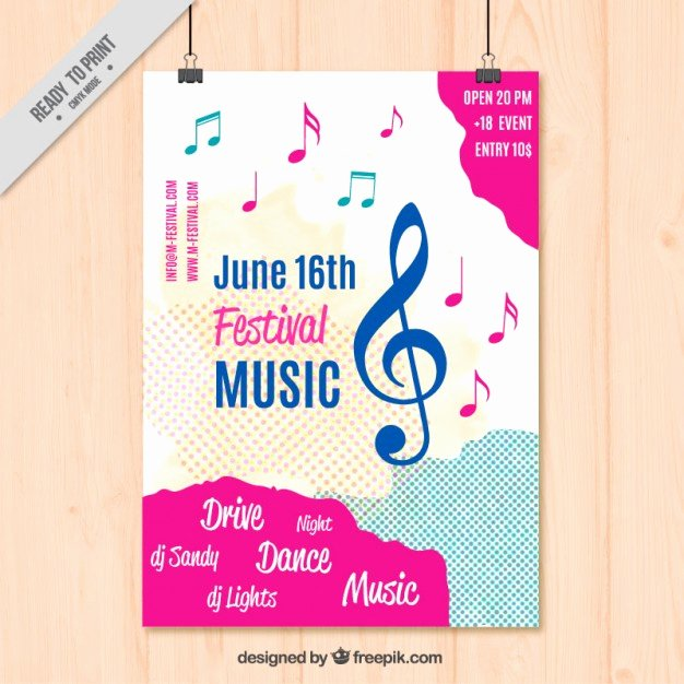 Free Music Poster Templates Inspirational Music Poster Template Vector