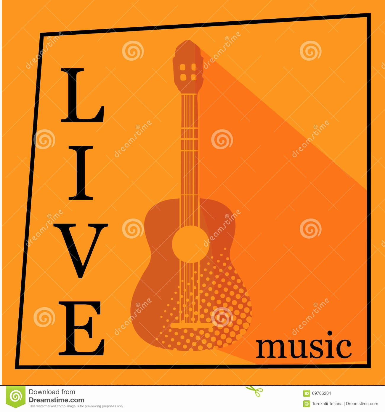 Free Music Poster Templates New Live Music Vector Poster Template Stock Image