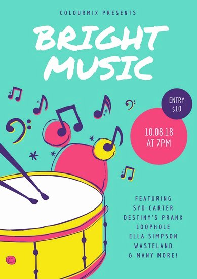 Free Music Poster Templates Unique Customize 353 Music Poster Templates Online Canva