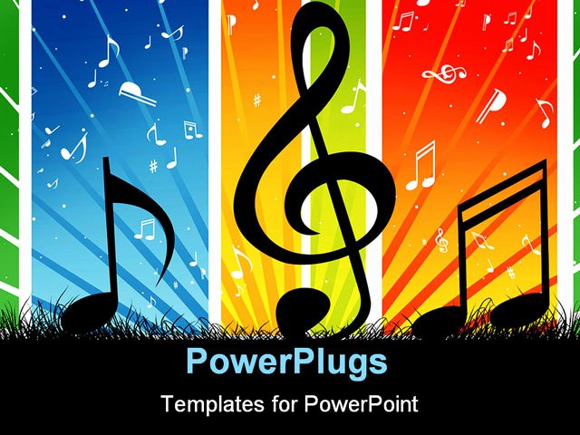 Free Music Powerpoint Templates Awesome A Music Note Wave with Music theme Background Powerpoint Template Background Of Creative Curve