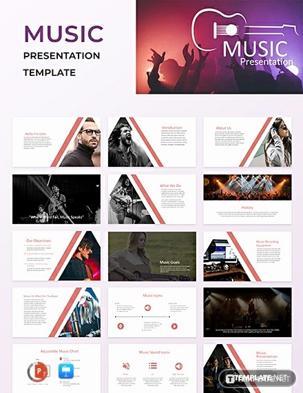Free Music Powerpoint Templates Beautiful Free Music Powerpoint Presentation Template Download 145 Presentations In Powerpoint Keynote