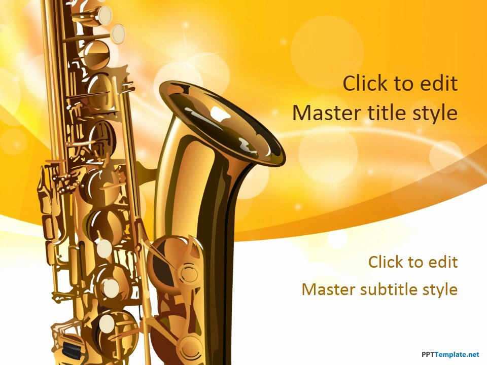 Free Music Powerpoint Templates Fresh Free Saxophone Ppt Template