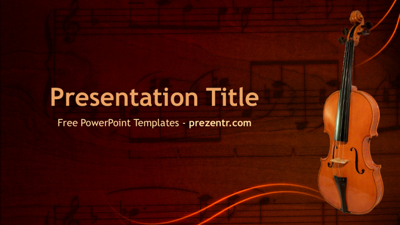 Free Music Powerpoint Templates Luxury Free Violin Powerpoint Template Prezentr