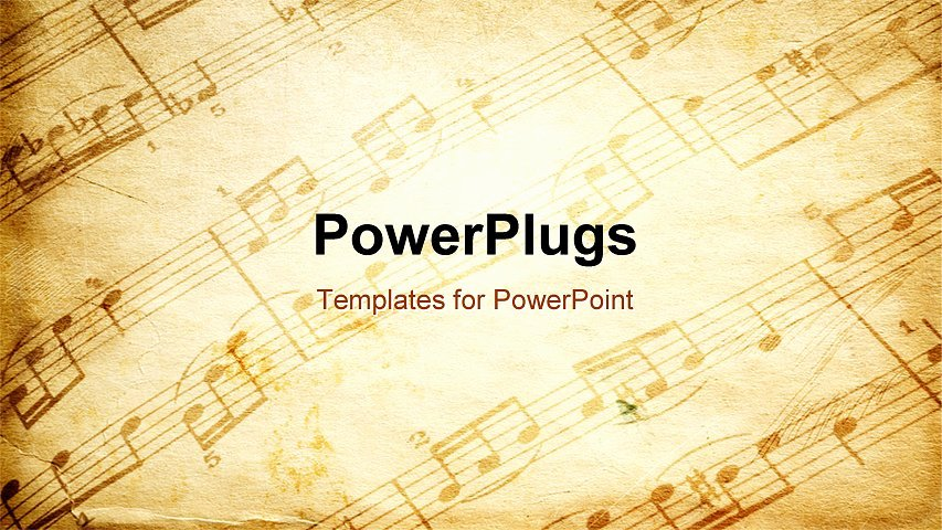 Free Music Powerpoint Templates Luxury Powerpoint Template Vintage Paper Background Depicting Music Sheet with Musical Notes