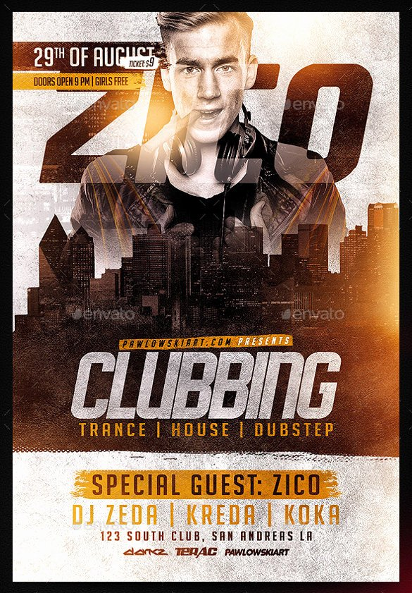 Free Nightclub Flyer Templates Best Of 43 Club Flyer Templates Psd Rtf Pdf format Download