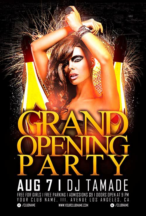 Free Nightclub Flyer Templates Inspirational Free Grand Opening Party Flyer Template Vol 2