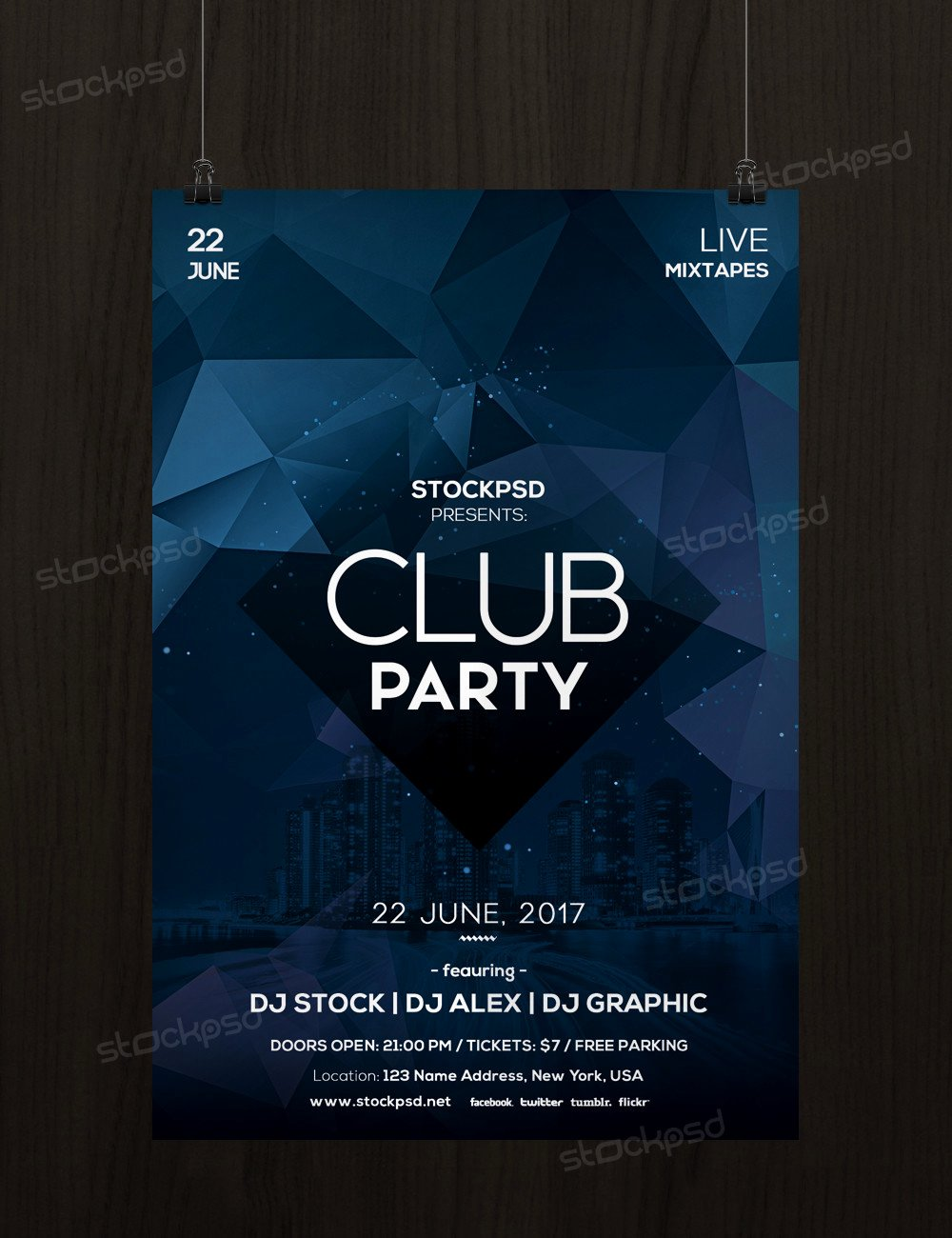 Free Nightclub Flyer Templates New Club Party Free Minimal Psd Flyer Template Free Psd Flyer Templates Brochures Mockup & More