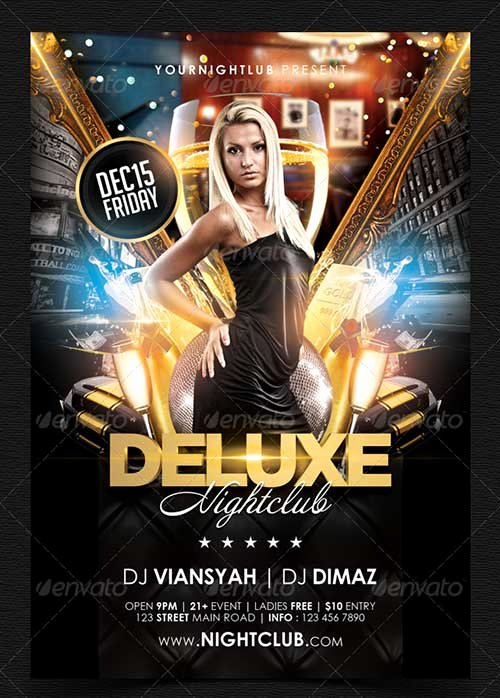 Free Nightclub Flyer Templates Unique Great top 35 Party and Club Psd Flyer Templates
