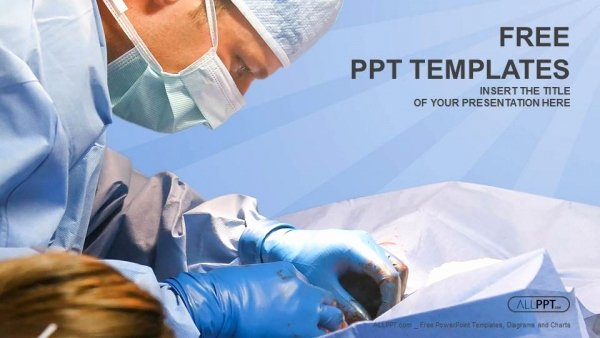 veterinarian surgery in operation room powerpoint templates 2