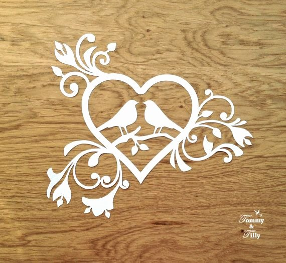 Free Paper Cutting Templates Inspirational Summer Sale Svg Pdf Love Birds Heart Design Papercutting Template to Print and Cut