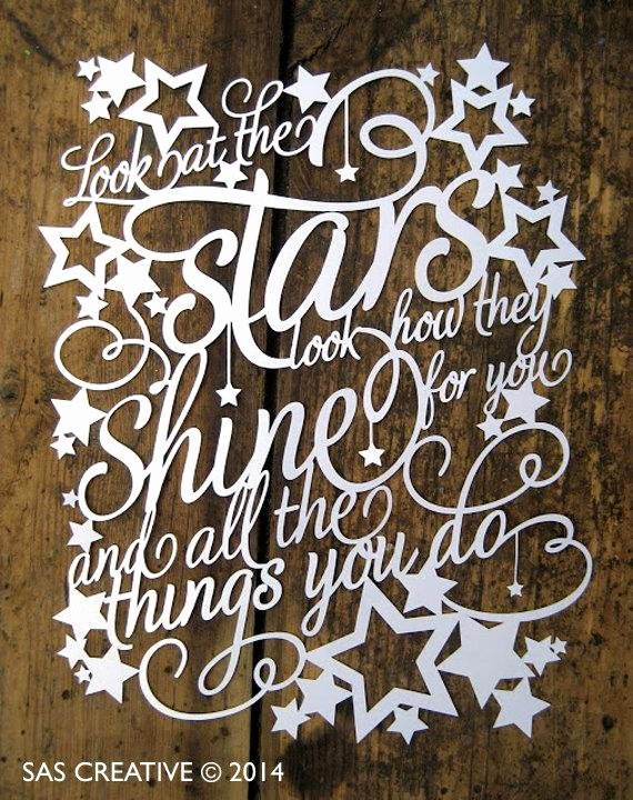 Free Paper Cutting Templates Lovely Papercut Template Look at the Stars Look How they Shine