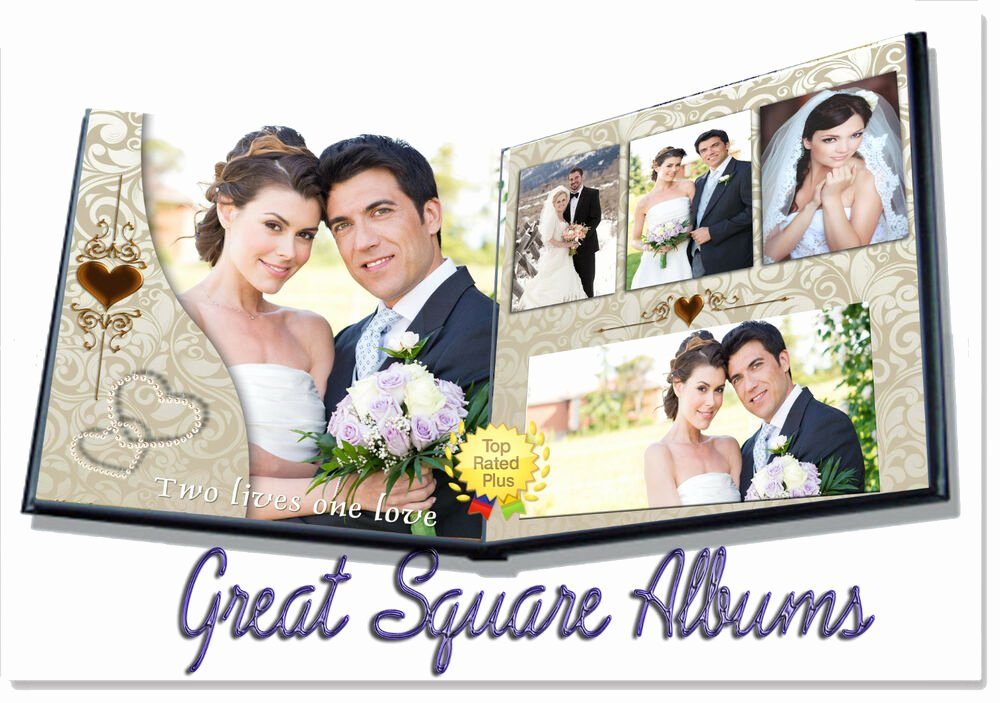 "Free Photo Album Template Awesome Shop Wedding Digital Album Templates Psd 12x12"" 8x12"""