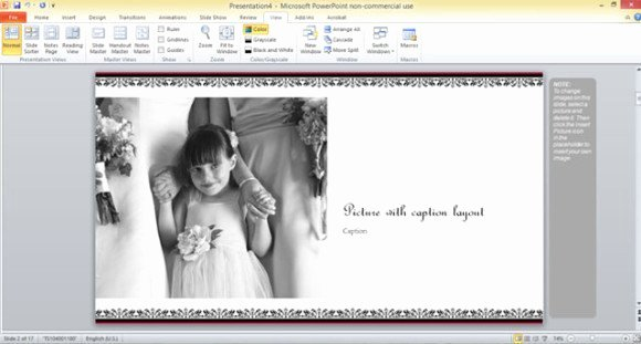 Free Photo Album Template Beautiful Free Wedding Album Template for Powerpoint 2013