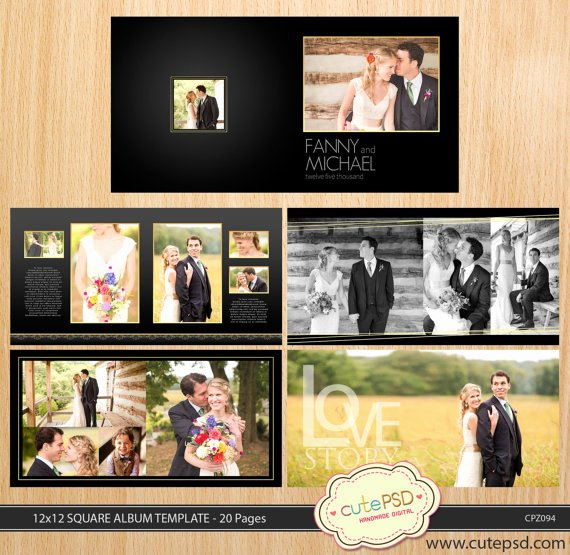 Free Photo Album Template Elegant 12x12 Square Wedding Album Template 20 Pages Dark Gold