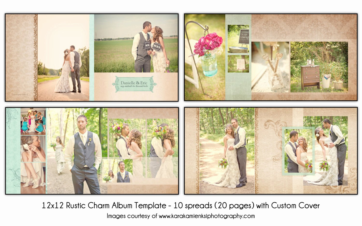 Free Photo Album Template Fresh Rustic Charm 12x12 Wedding Album Template 10 Spread
