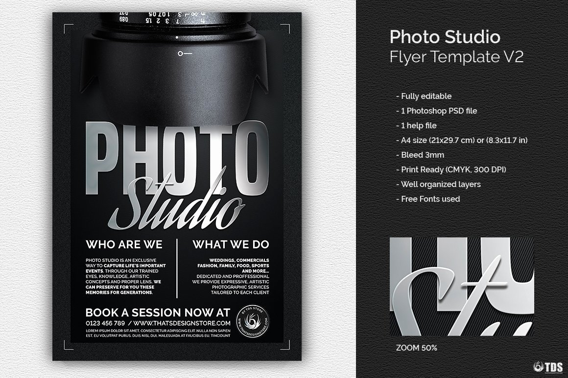 Free Photography Flyer Templates Best Of Studio Flyer Template for Shop Design Psd V2