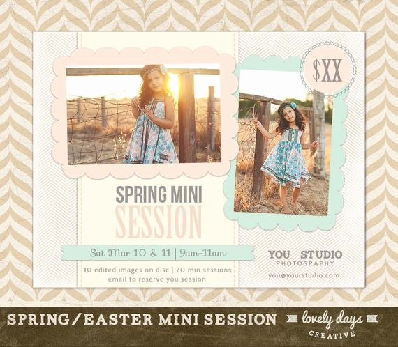 Free Photography Flyer Templates Elegant Spring Mini Session Marketing Board Flyer Ad Template for