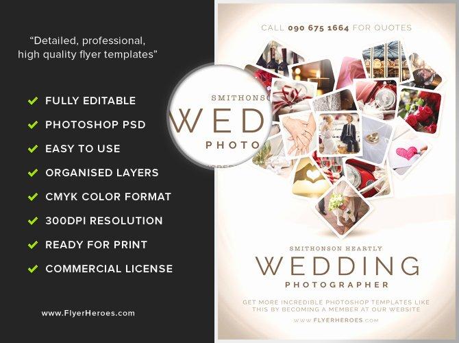 Free Photography Flyer Templates Elegant Wedding Grapher Flyer Template Flyerheroes