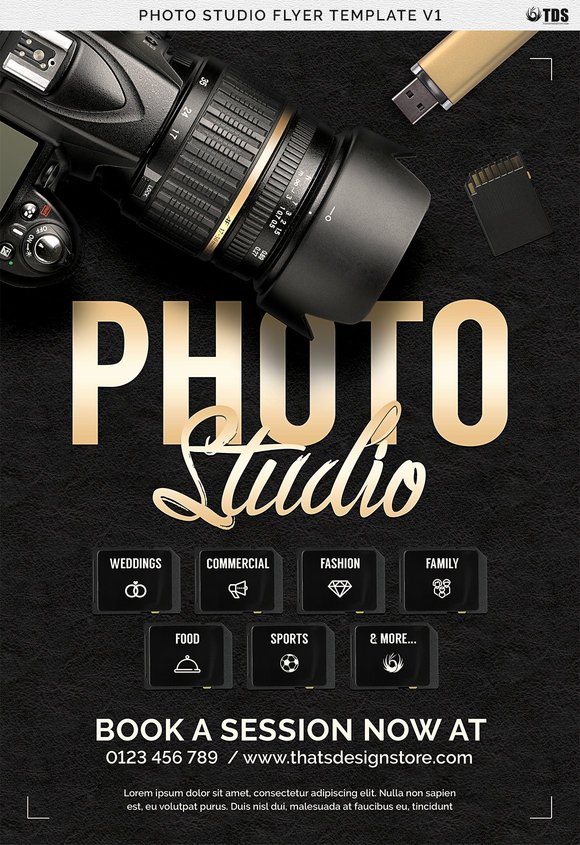 Free Photography Flyer Templates Fresh Studio Flyer Template V1