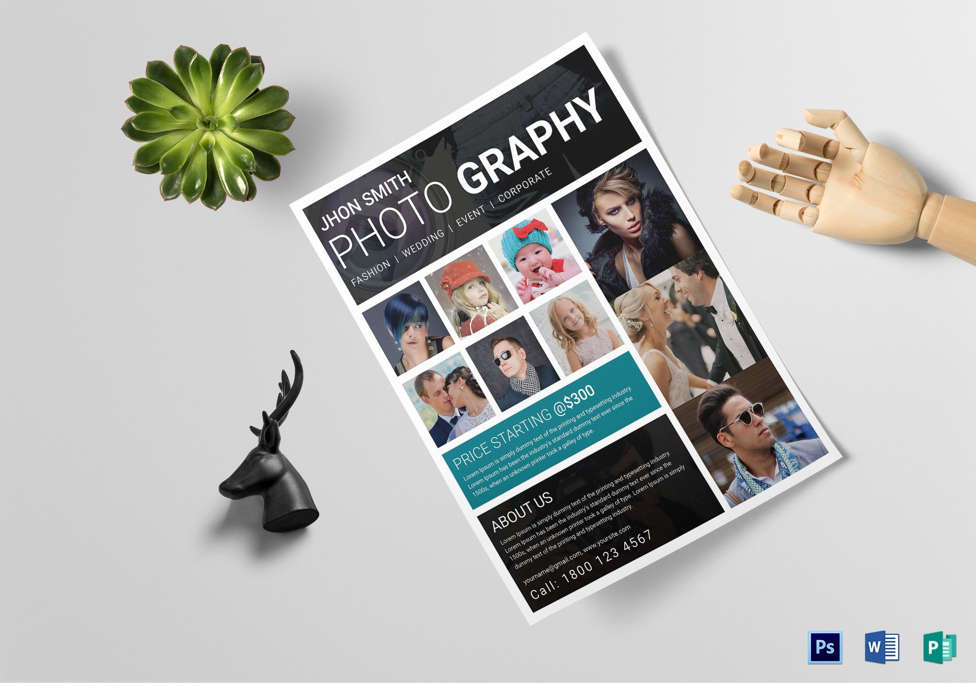 Free Photography Flyer Templates Inspirational Modern Graphy Flyer Design Template In Word Psd Publisher