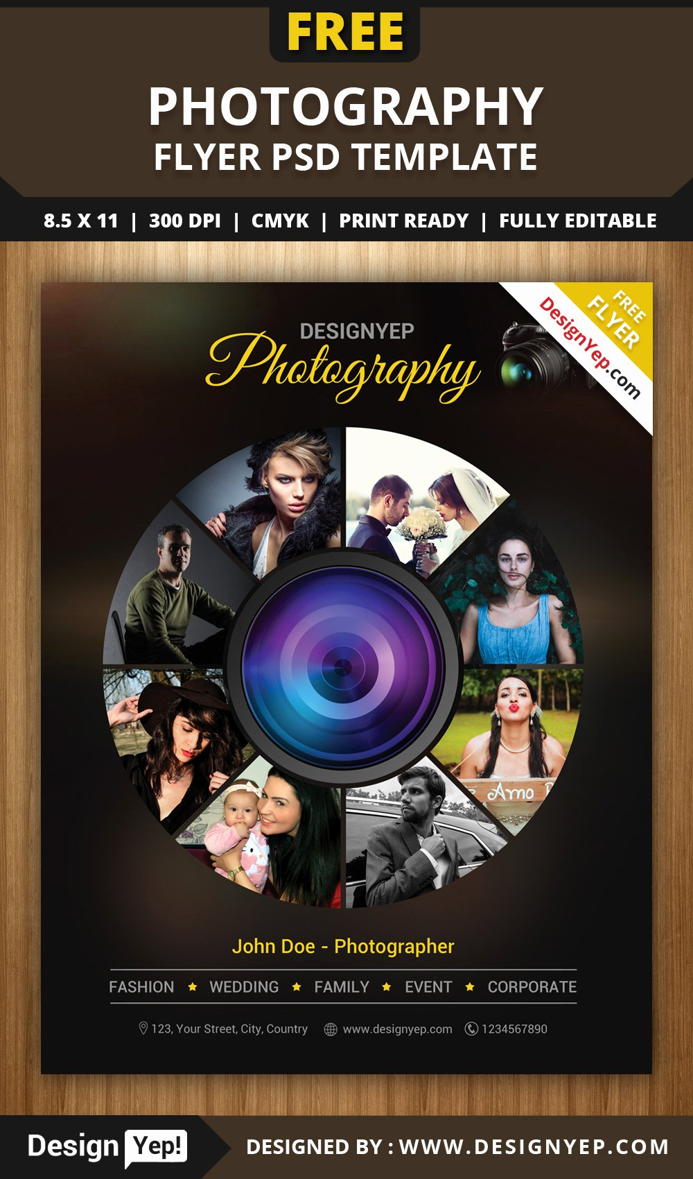 Free Photography Flyer Templates Lovely Free Graphy Flyer Psd Template Designyep
