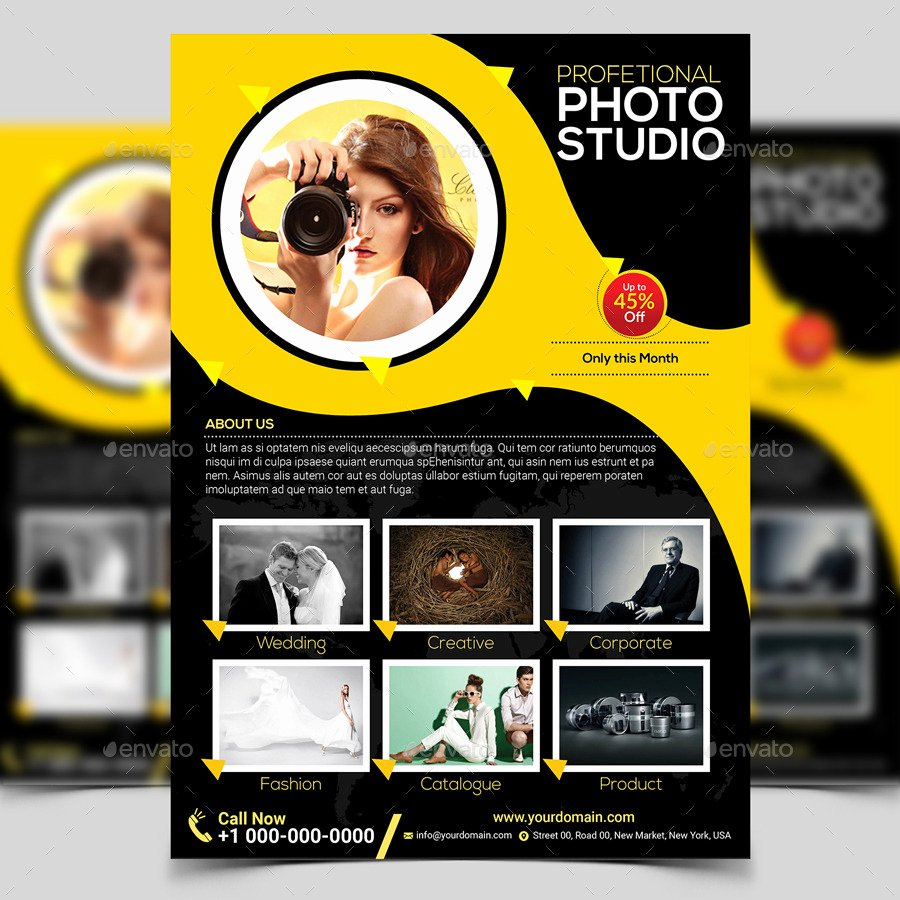 Free Photography Flyer Templates Luxury Graphy Flyer Template by Aam360