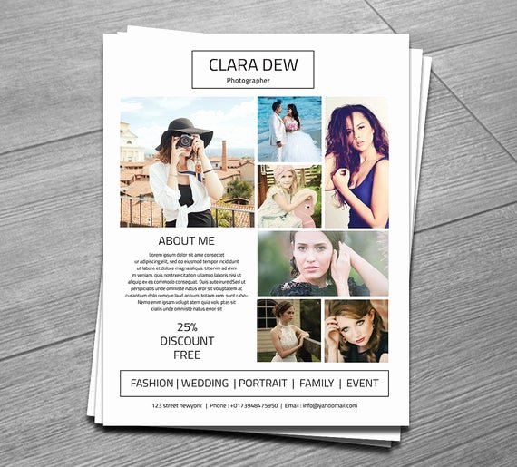 Free Photography Flyer Templates New Graphy Flyer Template Marketing Template for