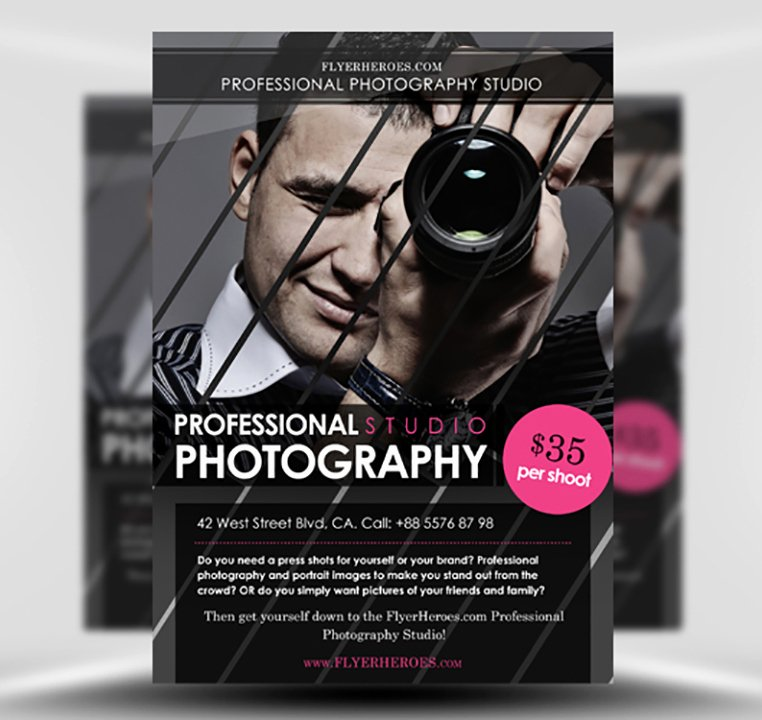 Free Photography Flyer Templates Unique Free Graphy Flyer Template Flyerheroes