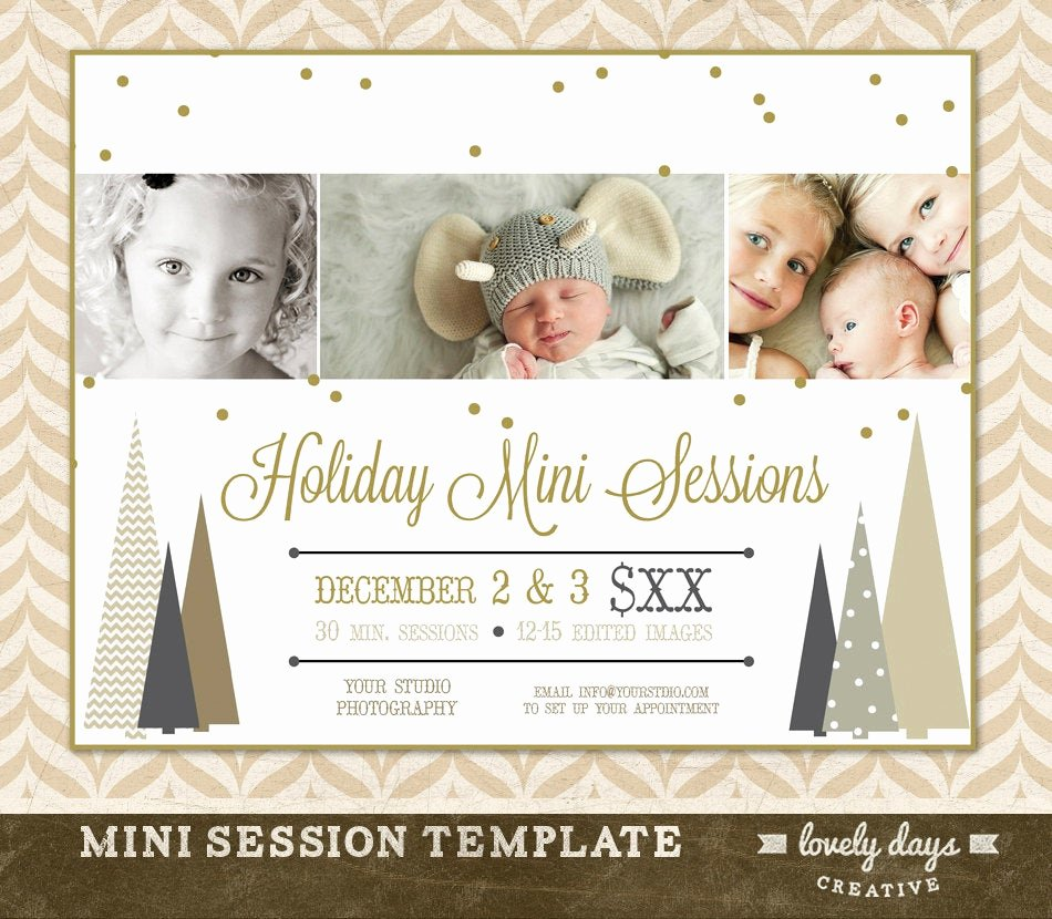 Free Photography Marketing Templates Awesome Christmas Mini Session Template Marketing Board for