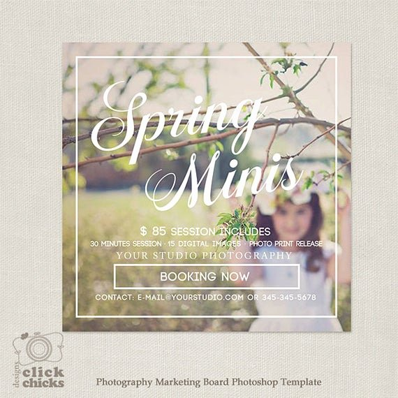 Free Photography Marketing Templates Best Of Spring Easter Mini Session Template Marketing Board for