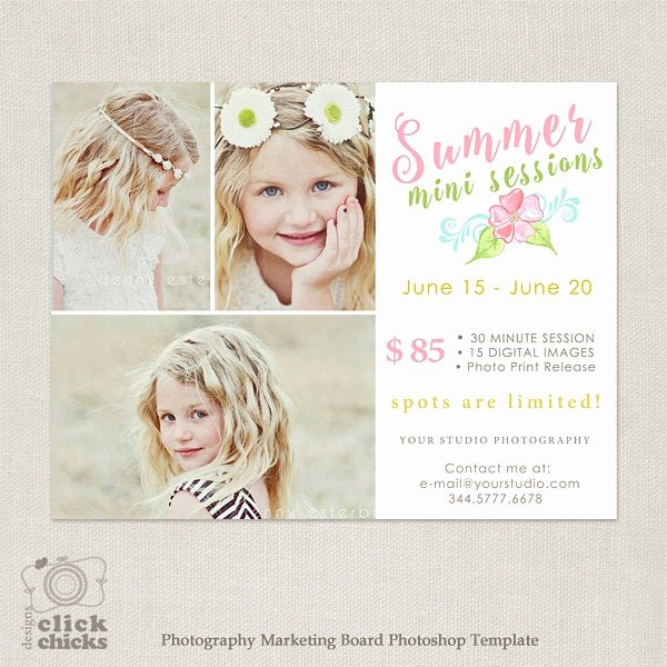 Free Photography Marketing Templates Best Of Summer Mini Session Template Graphy Marketing Boadr