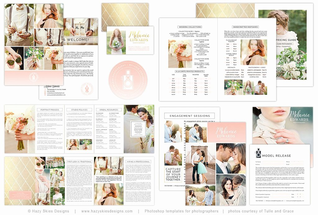 Free Photography Marketing Templates Elegant Wedding Client Wel E Packet