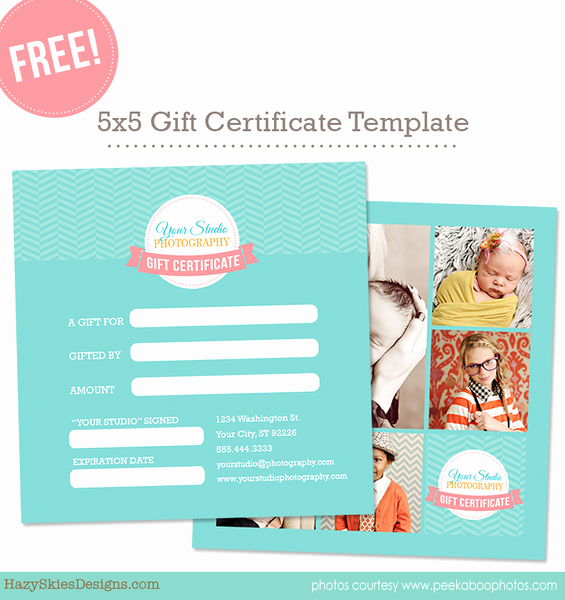Free Photography Marketing Templates Inspirational Free Gift Card Template for Graphers