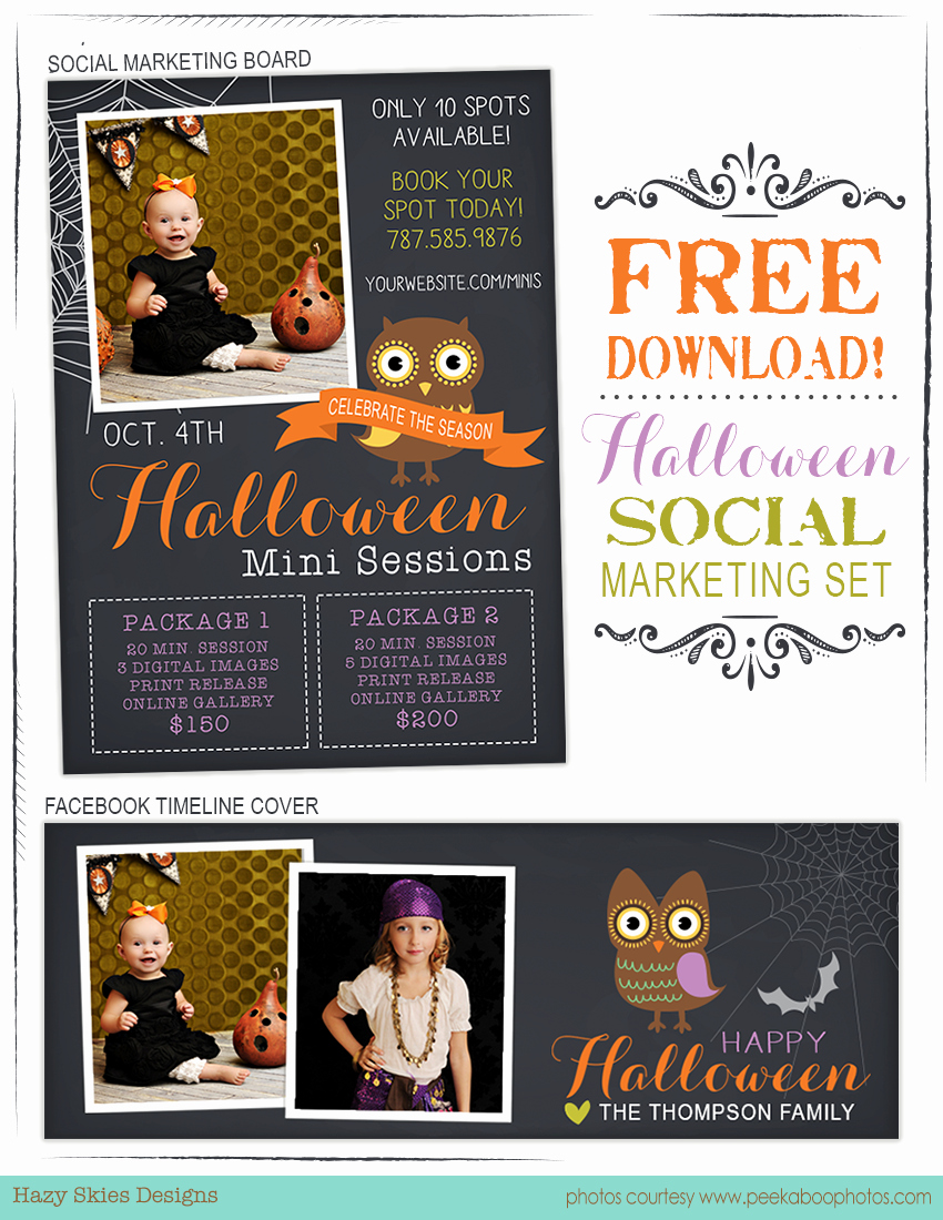 Free Photography Marketing Templates Inspirational Free Halloween Marketing Templates for Graphers Halloween Fall Marketing