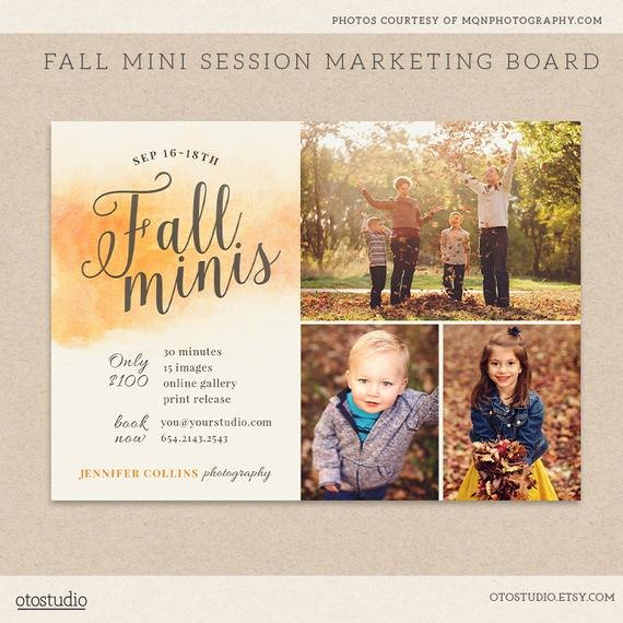 Free Photography Marketing Templates New Fall Mini Session Template Graphy Marketing Board