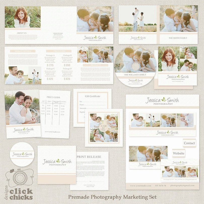 Free Photography Marketing Templates New Save Bundle Premade Graphy Marketing Templates Set and