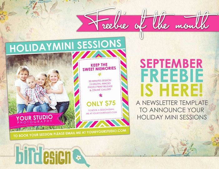 Free Photography Marketing Templates Unique Free Photoshop Templates Marketing Board Template to Announce Mini Sessions