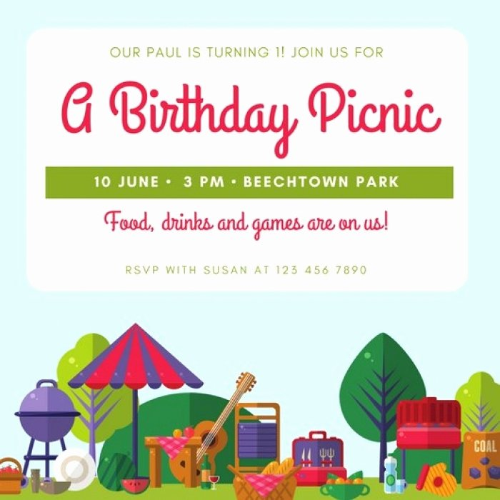 Free Picnic Invitation Template Best Of Great Family Picnic Invitation Templates Free Idea Mericahotel