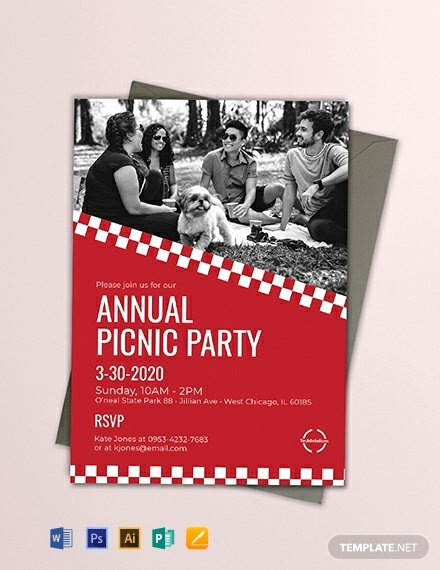 Free Picnic Invitation Template Elegant Free Corporate Picnic Invitation Template Word Psd Indesign Apple Pages