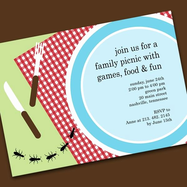 Free Picnic Invitation Template Elegant Invite Idea Invitations