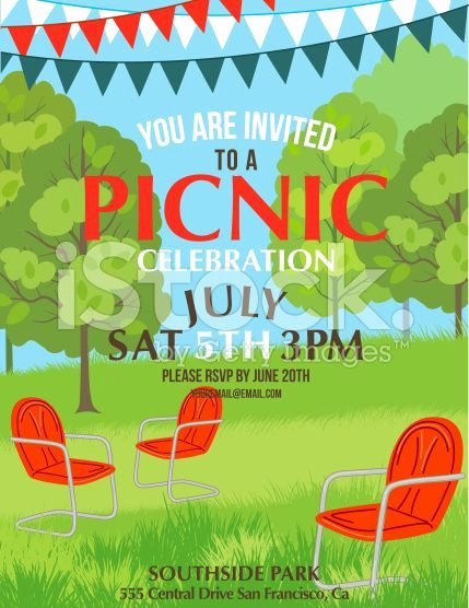 Free Picnic Invitation Template Elegant Summer Picnic Party Invitation Template Royalty Free Stock Vector Art