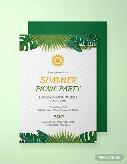 Free Picnic Invitation Template Lovely 26 Picnic Invitation Templates Psd Word Ai
