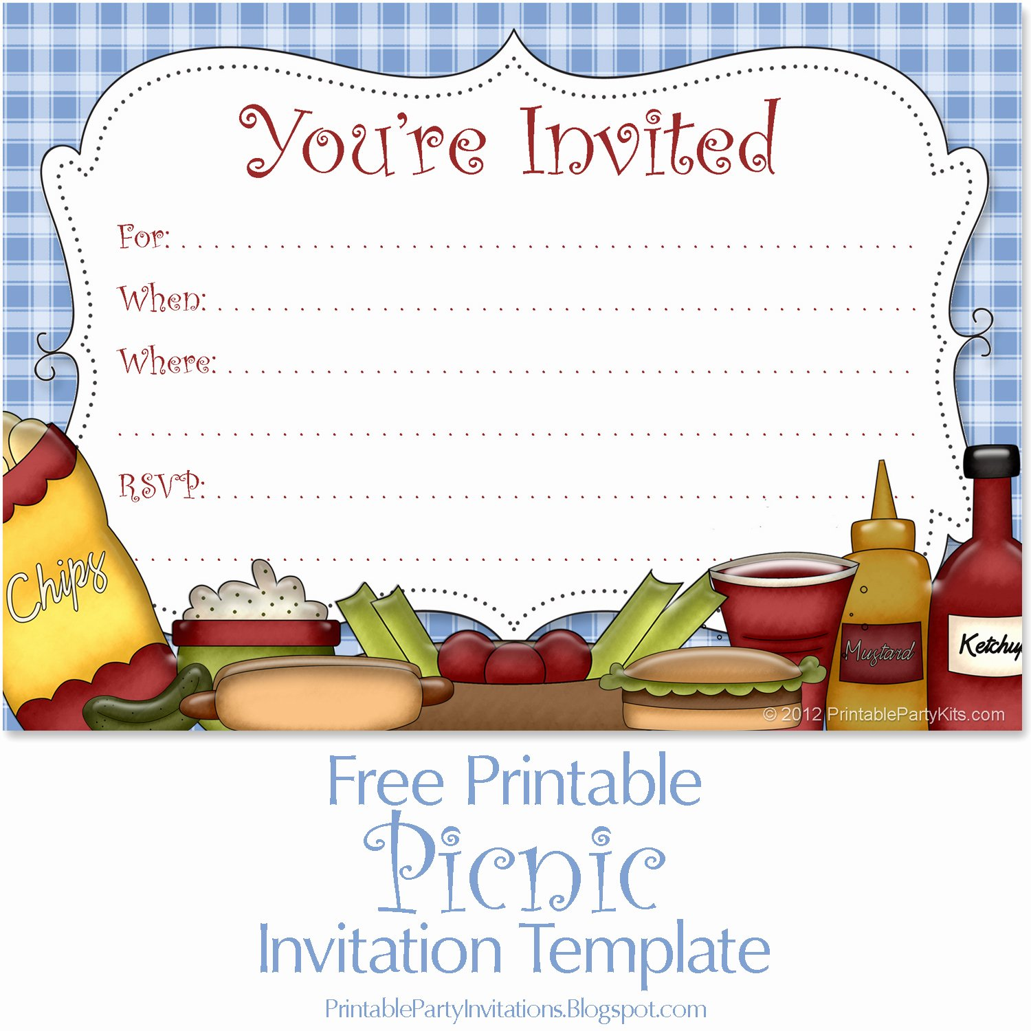 Free Picnic Invitation Template New Free Printable Picnic Announcement Artwork