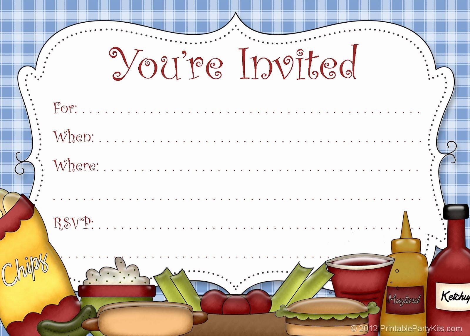 Free Picnic Invitation Template Unique Free Printable Picnic Invitation Party Printables