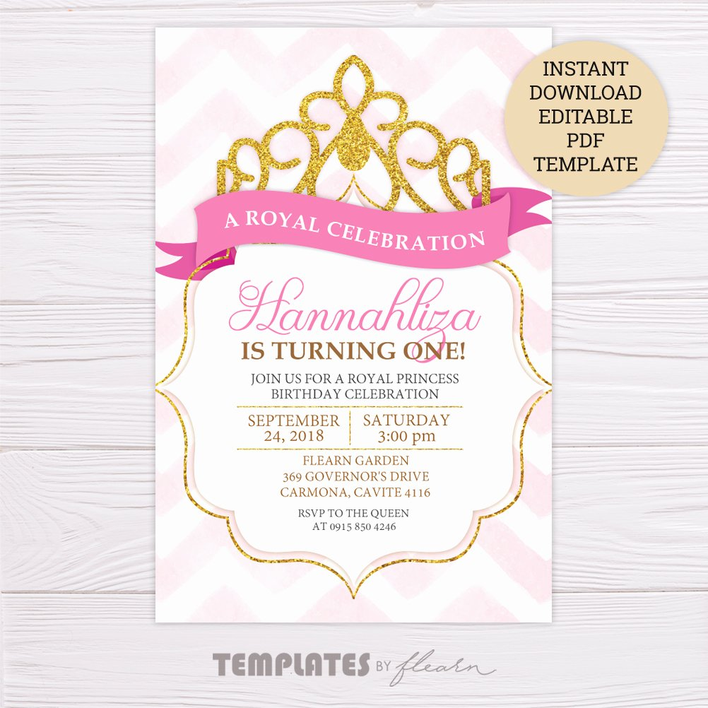 Free Princess Invitation Template Beautiful Free Royal Princess Invitation Template – Flearn Ph