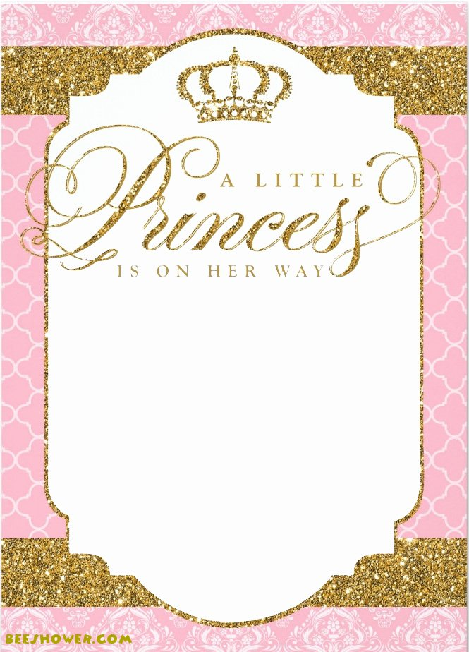 Free Princess Invitation Template Best Of Princess themed Baby Shower Ideas