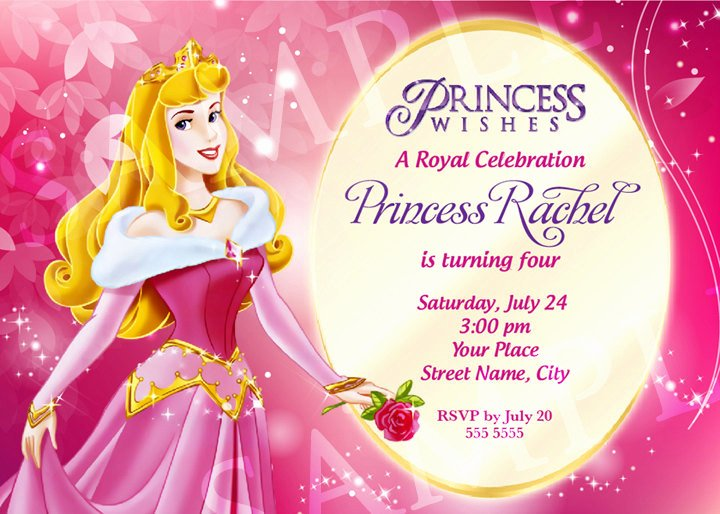 Free Princess Invitation Template Fresh Aurora Princess Birthday Invitation Template