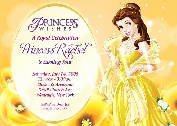 Free Princess Invitation Template Fresh Items Similar to Princess Birthday Invitation Template On Etsy
