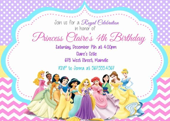 Free Princess Invitation Template Inspirational Princess Invitation Disney Princess Invitation Birthday Princess Invitation Printable