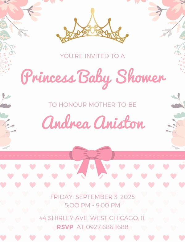 Free Princess Invitation Template Lovely 38 Printable Baby Shower Invitations Psd Ai